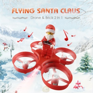 JJRC H67 Flying Santa Claus RC Helicopter 2.4G 4CH 6-Axis Headless Mode RC Quadcopter Toy Brick - Red