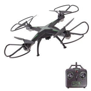 JD-10HW 2.4GHz 4CH Altitude Hold RC Quadcopter with 0.3MP Camera 4G Micro SD Card - Black
