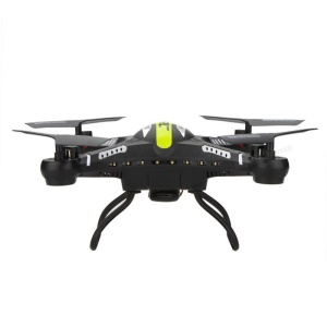 JJRC H8C 2.4G 4CH 6-Axis Gyro RC Quadcopter Drone with 2.0MP Camera HD and LED - Black / EU Plug