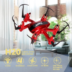 JJRC H20 Nano Hexacopter RC Mini Drone 2.4G 4CH 6-Axis Headless RC Helicopter - Red