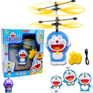 Doraemon Magic Hand Induction Helicopter Floating Flying Saucer RC Aircraft Built-in Shinning LED Lighting