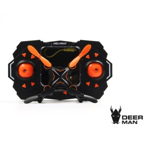 HELIWAY 901HS Folding Mini Remote Control 6 Axis Gyroscope 2.4GHz 4CH Quadcopter with HD Camera - Orange