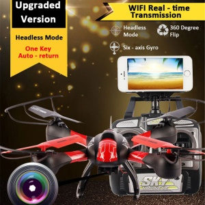 1315W 2.4G 4CH 6-axis RC Quadcopter WIFI Real-time Transmission Drone Helicopter with Headless Mode