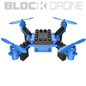 HELIWAY H902S DIY RC Quadcopter 2.4GHz Building Block Drone with 0.3MP Camera (CE) - Blue