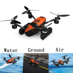 WLTOYS Q353 2.4G 6-Axis Air-Ground-Water RC Quadcopter - Orange