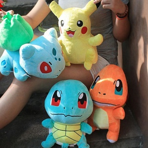 4Pcs Pokemon Go Plush Toys Pikachu Bulbasaur Squirtle Charmander Toy Doll Set
