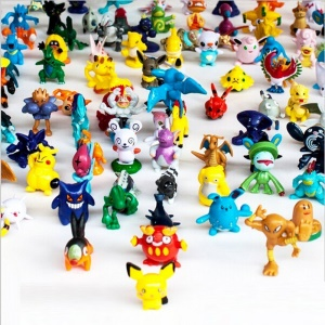 Pokemon Go Action Figures Pocket Monsters Doll Complete Set (144 Pcs)