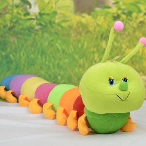 Colorful Caterpillar Soft Toy PP Stuffed Doll, Length: 50cm