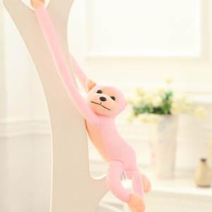 Cute Long Arm Monkey Plush Stuffed Toy (with Squeeze Sound), Length: 60cm - Pink