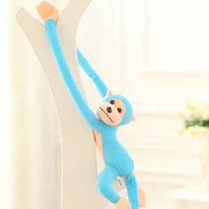 Stuffed Doll 70cm Hanging Long Arm Monkey Soft Toy (with Squeeze Sound) - Blue