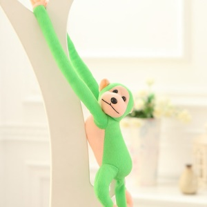 90cm Plush Long Arm Hanging Monkey Doll Toy (No Talking) - Green