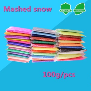 12 Pcs Non-toxic Particles Super Light Clay 3D Snowflake Mud Children's Toy