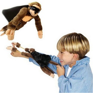 Juguetes de peluche de Creative Funny Slingshot Flying Monkey Toy