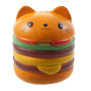 Squishy Slow Rising Squeeze Toy Cat Hamburger Bread Toy for Collection Gift