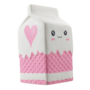 Kawaii Milk Carton Bottle Squishy Toy Slow Rising Hand Stress Reliever Toy