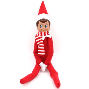 Pocket Sized Christmas Elf with Scarf On Shelf Doll Christmas Gifts for Kids - Red / Boy