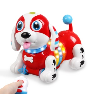 Multi-function Intelligent Electronic Touch Cute Robot Dog with RC Storytelling Sing Dance Walking Talking