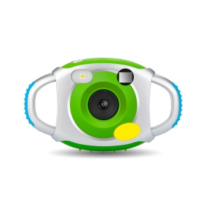 Creative Kids' Camera Portable Double Handheld 5MP Digital Camera with Silicone Protective Shell