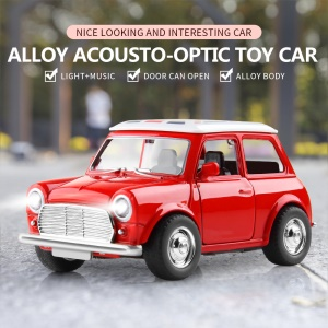 1:38 Full Scale Electric Car Toy Pull-back Vehicle with Stunning Lights and Sound - Red