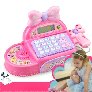 Fun Checkout Counter Supermarket Checkstand Toy Cash Register Barcode Scanner Education Toys with Sound Effect for Kids
