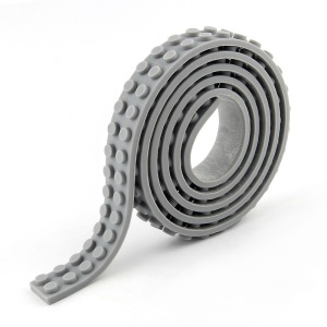 Tape Self Adhesive Loops Building Block Strips for Kids - Grey