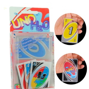 UNO H2O Waterproof PVC Playing Card Transparent Crystal Clear Family Playing Card Set