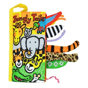 Funny 3D Animal Tails Baby Soft Cloth Book Educational Toy - Jungly Tails