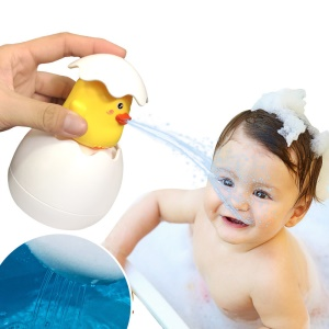 Water Spraying Egg Baby Bath Toy Early Educational Bathroom Sprinkling Egg Floating Toy - Duck