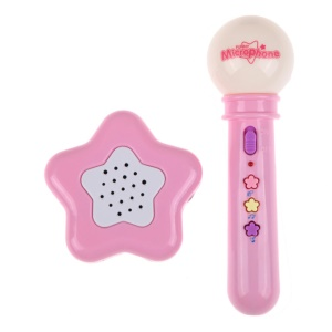 BAOLI 5006B Kids Wireless Microphone with Speaker Mic Karaoke Singing Funny Music Toy Children Gift - Pink
