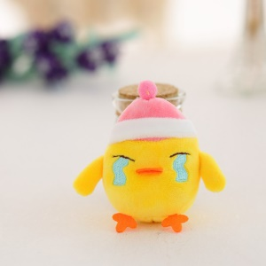 Mini Chicken Pattern Plush Toy Small Doll Pendant - Shed Tears