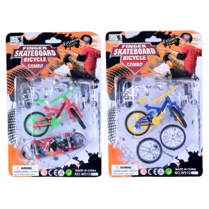 4PCS/Lot Mini Fingerboard Toys Finger Skateboards Bike Set Toys