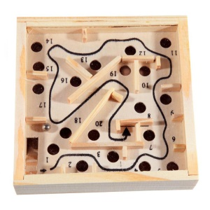 Wooden Pocket Maze Exercise Counterbalance Educational Toy for Kids above 5 Years Old