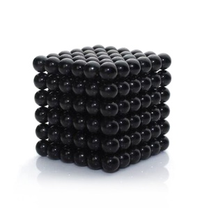 216 Pieces Bucky Balls 5mm Magnetic DIY Puzzle Balls Toy for Children Early Education - Black