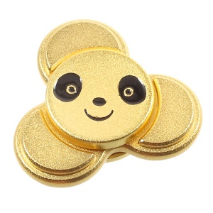 Cute Panda Shape Fast Bearing Tri-Spinner Fidget Spinner Finger Toy EDC Focus Toy - Gold