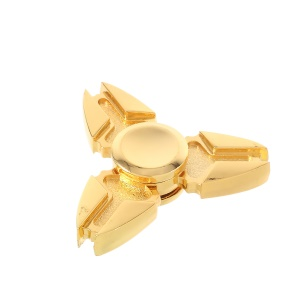 Triangle Fidget Spinner Toy Hand Spinner Stress Reducer EDC Focus Toy - Gold Color