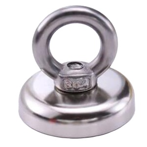 D32mm NdFeB Eyebolt Circular Ring Magnet for Salvage