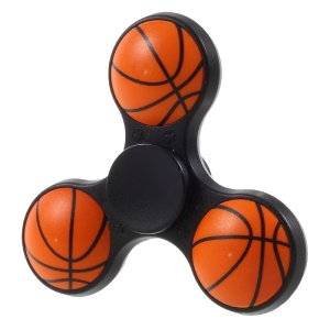 Basketball Pattern Ultra-quiet Tri-spinner Fidget Spinner Toy for ADHD Anxiety and Boredom