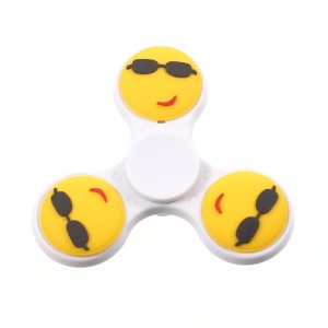Emoji Pattern Cool Smile Anti-Anxiety Fidget Spinner Toy Stress Reducer - White