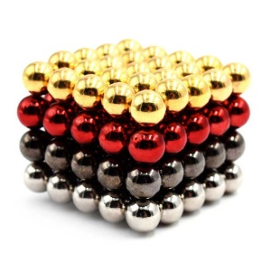 100Pcs 5mm Round DIY Puzzle Magnetic Balls Educational Toy - Gold / Black / Silver / Red