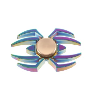 Colorized Spider Pattern EDC Spinner Fidget Spinner for ADHD Anxiety and Boredom