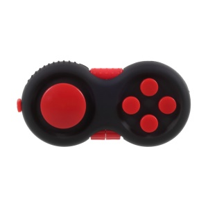 Fidget Pad Hand Shank Fidget Cube Anti-Anxiety and Decompression Toy for Adult and Kids - Black + Red