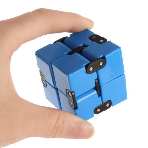 Infinity Cube Pressure Reduction Toy Mini Fidget Magic Cube for Kids and Adults - Blue