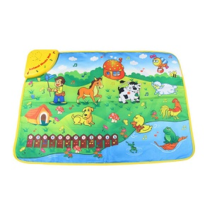 COOLPLAY Learning Playmat with Musical Animal Sounds Numbers Musical Rhythm Touch Toy