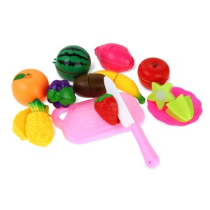 13 pcs/Set Kitchen Fun Cutting Fruits Toys Set Early Development and Education Toys - Vegetables Set