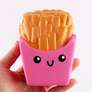 French Frises Elastic PU Stress Relief Reduced Pressure Squishy Toy - Rose