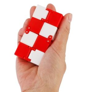 Infinity Cube Fidget Toy Hand Killing Time for Anxiety, and Autism Adult and Children - Red