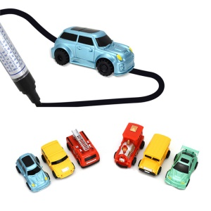 One Piece Follow Any Drawn Line Magic Pen Inductive Car Toy Pre-school Car Bus for Kids