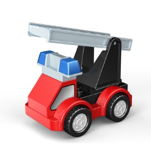 Multi-changed Building Puzzle Blocks Car Toy - Fire Engine