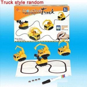 Drawn Line Magic Pen Inductive Toy Car Truck Bus Tank Model