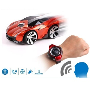 Commanded by Watch Voice Remote Control Vehicle Voice Activated RC Car - Orange
